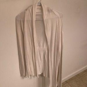 Long, white/cream Express Cardigan